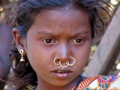 Up close detail of a Parajas Tribal girl