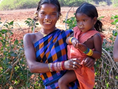Parajas Tribal woman poses with a beautiful smile