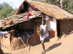 Dhuruba tribal village scene