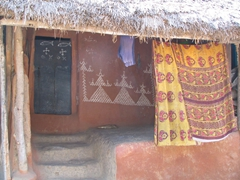 Decorated entrance of a typical Nayagarh dwelling
