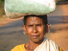 Our first glimpse of the Kutia Kondh Tribe (famous for their cannibalism-practices in the past)