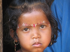 Kondh tribal girl, Nadi Guda Village