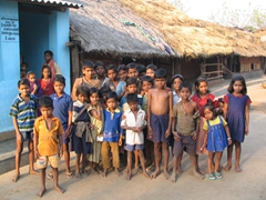 Kondh Tribal children of Nadi Guda Village