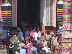 Crowded entrance to one of India's most holy sights; Puri's Jagannath Temple