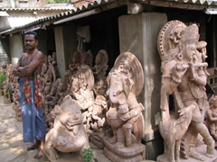 A quick stop at the Dhruba Art Institute for a sampling of Konark's Sun Temple-style statues