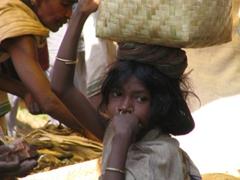 Dongariya girl at the market