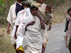 Dongariya Tribal family on the way to the weekly market