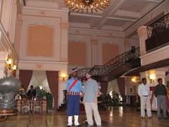 Robby strikes a pose in the posh Mayfair Lagoon Hotel, Bhubaneswar
