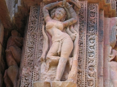 Lazy girl pose, Rajarani Temple