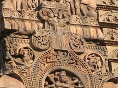 Intricate details on the Siddheswar Mandir