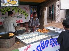 Streetside food, Kharavela Festival