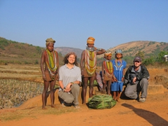Becky and Robby are giants amidst the Bonda Tribal people