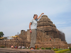 "Becky grabbing the ""top"" of the Sun Temple"