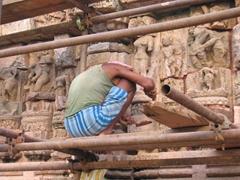 Labor of love; restoring portions of Konark Sun Temple