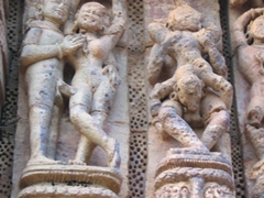 One of Konark Sun Temple's many erotic figurines