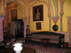 Our posh lodgings in Jaipur were at this lovely Cultural Heritage Hotel, a former Palace