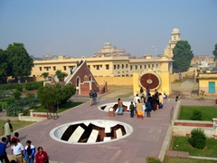 The Jantar Mantar is an observatory with an astronomical clock (and happens to be the world's largest sundial); Jaipur