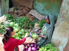 Typical Indian market scene