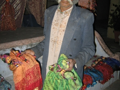 A puppeteer hawking his wares; Jaipur