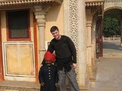 Little guard and Robby, Jaipur City Palace