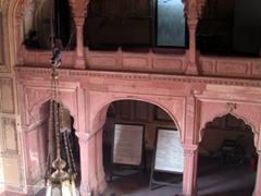 Bird's eye view of the entrance portal, Badshahi Mosque
