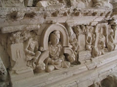 Detail of stupa at Jaulian, Taxila
