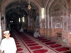 Its pretty quiet inside the Mahabat Khan Mosque, Peshawar's finest