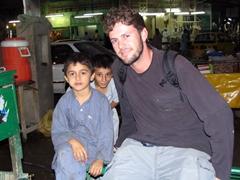 Curious kids befriend Robby, Peshawar