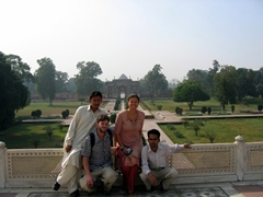 Posing at Jehangir's Tomb