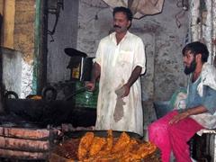 Hard at work at Food Street, Lahore