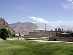 View of the Skardu Polo Field, a popular venue for the annual Baltistan polo competition held in August