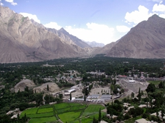 Skardu Valley is a wide, flat area surrounded by mountains