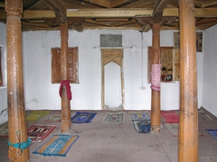 Interior view of the 16th Century Mosque (note: non Muslims are not permitted to enter the mosque!)