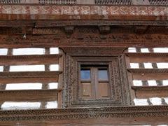 Exterior woodwork of the Kaphlu Mosque