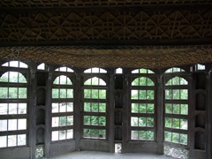 Interior view of the Khaplu Fort looking out towards the garden