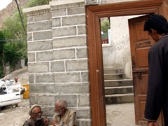 Entrance to a mosque in Khaplu