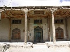 The entrance to Keris' massive mosque