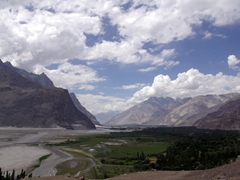 Our first glimpse of Shigar Valley