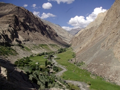 """A moderate 3 day trek called """"Thalle La"""" is possible from Shigar to Khasumik...this is the Shigar starting point"""