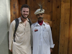 Robby takes a picture with the super pleasant Mr. H.h.h.h.h.s.i from Shigar Fort