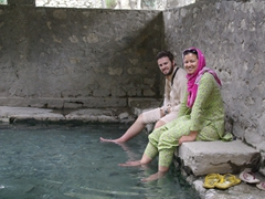 When we finally reach Choutron, we dipped our feet into the hot springs for as long as we could stand