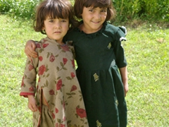 Osmah and Hamid's daughter are dressed in their best when they hear we are coming back for breakfast