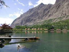 The resort has a large lake fully stocked with trout...too bad no fishing is allowed!