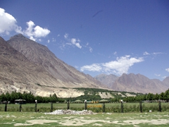 View of Gilgit City Park