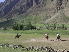 The Naltar polo players were hard charging, but not as skilled as the Gilgit and Chitral teams