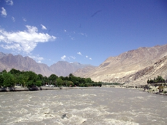 We crossed the raging Gilgit River on our way up to Naltar