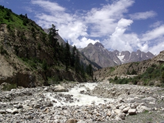 Our first view of Naltar, which is home to our driver Jan