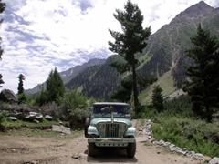 Our jeep was perfectly suited for Naltar's rough roads