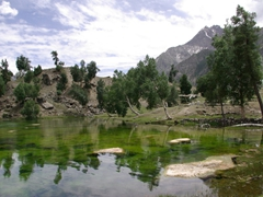 Our first glimpse of Naltar Lake