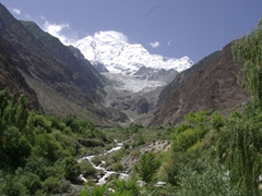 We have a fantastic view of Rakaposhi Mountain at the aptly named Rakaposhi View Restaurant